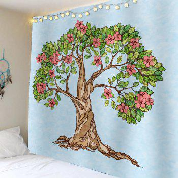 Tree of Life Floral Waterproof Wall Tapestry