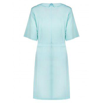 Plus Size Collared A Line Dress with Pockets - 2XL 2XL