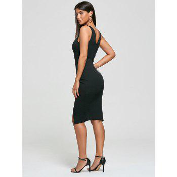 Cut Out Ribbed Bodycon Dress - ONE SIZE ONE SIZE