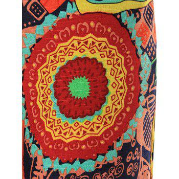 Kaleidoscope Printed Drawstring Pants - COLORMIX 6XL