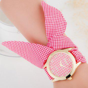 Ribbon Strap Number Bracelet Watch