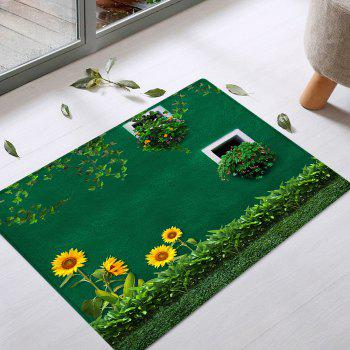 Sunflower Grass Pattern Indoor Outdoor Area Rug - GREEN W20 INCH * L31.5 INCH