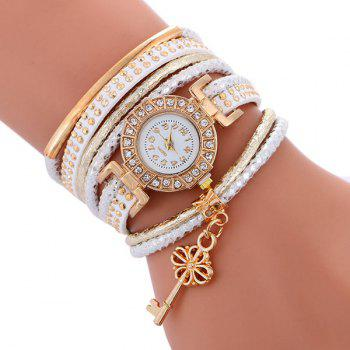 Studed Key Wrap Bracelet Watch