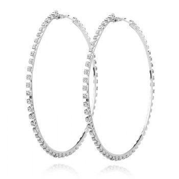 Statement Rhinestoned Circle Hoop Earrings