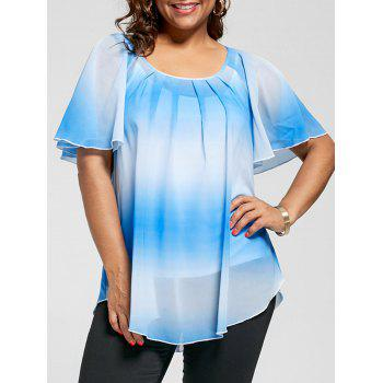 Plus Size Ombre Blouse with Camisole