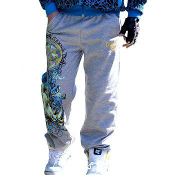 Loose Fit Graphic Print Embroidered Drawstring Jopper Pants