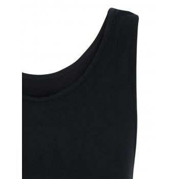 Back Cut Out Tank Top - S S