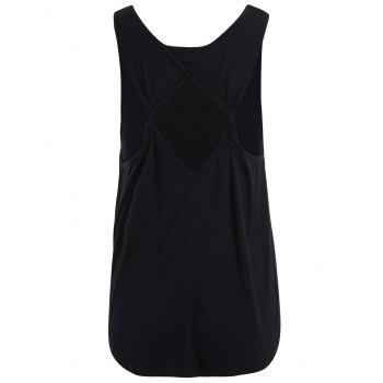 Back Cut Out Tank Top - BLACK L