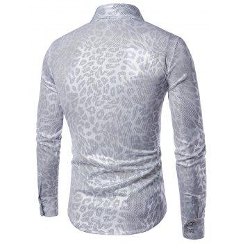 Leopard Pattern Gilding Long Sleeve Shirt - 2XL 2XL