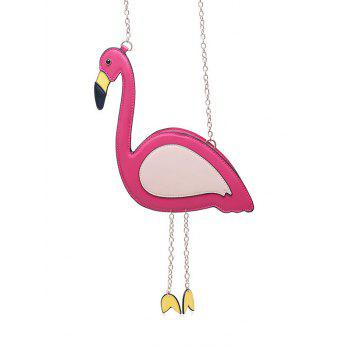 Funny Flamingo Shaped Crossbody Bag - ROSE RED ROSE RED