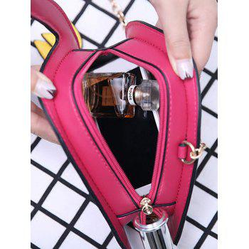 Funny Flamingo Shaped Crossbody Bag -  ROSE RED