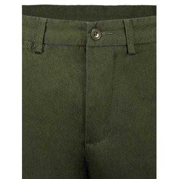 Zip Fly Men Shorts - GREEN GREEN