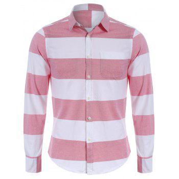 Pocket Striped Shirt - RED AND WHITE RED/WHITE