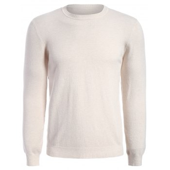 Pullover Long Sleeve Men Knitwear - APRICOT APRICOT
