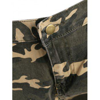 Camo Distressed Bermuda Shorts - ACU CAMOUFLAGE S
