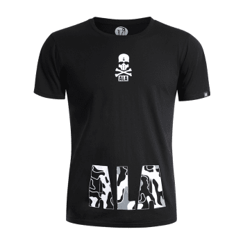 Skull Print Graphic T Shirt - BLACK BLACK
