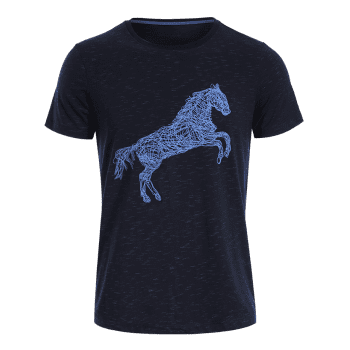Animal Horse Print Short Sleeve T-shirt - DEEP BLUE DEEP BLUE