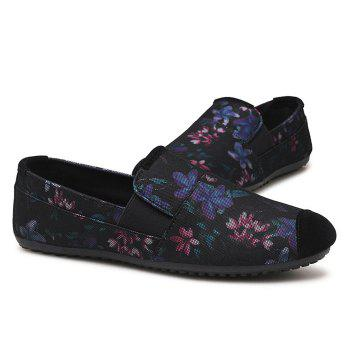 Flower Printed Casual Slip On Sneakers - PURPLE 41