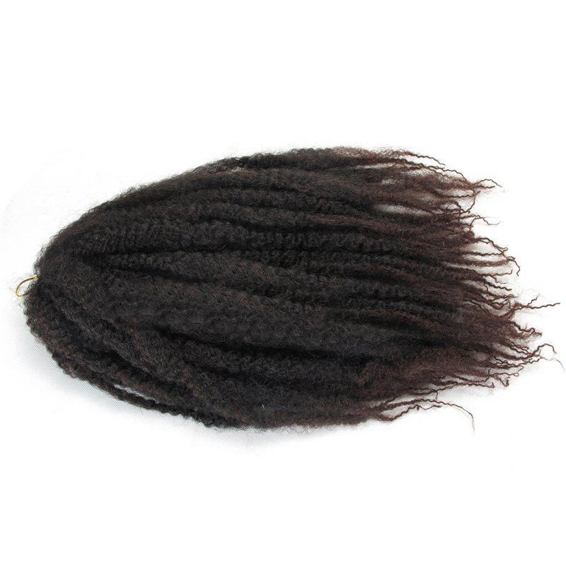 Long Colormix Fluffy Afro Kinky Curly Synthetic Hair Weft - DARK AUBURN BROWN