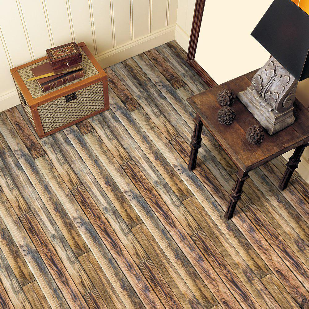 D Wood Grain Vinyl Floor Sticker DEEP BROWN In Floor Stickers - 3d vinyl flooring for sale