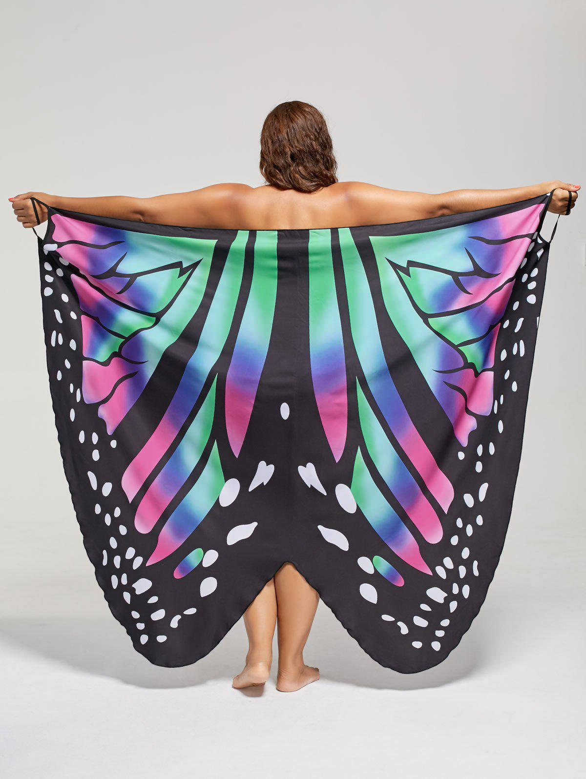 Plus Size Butterfly Wrap Cover Up Dress