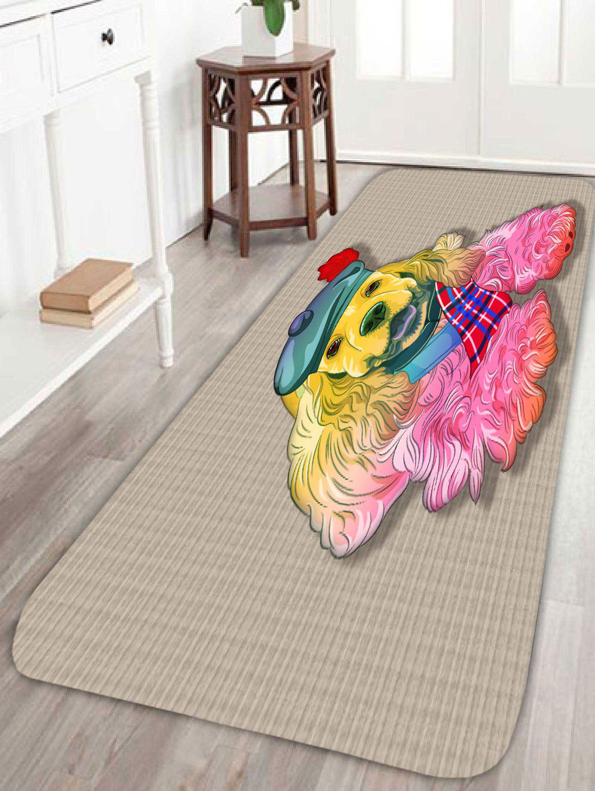 Coral Fleece Golden Retriever Home Area Rug - APRICOT W16 INCH * L47 INCH
