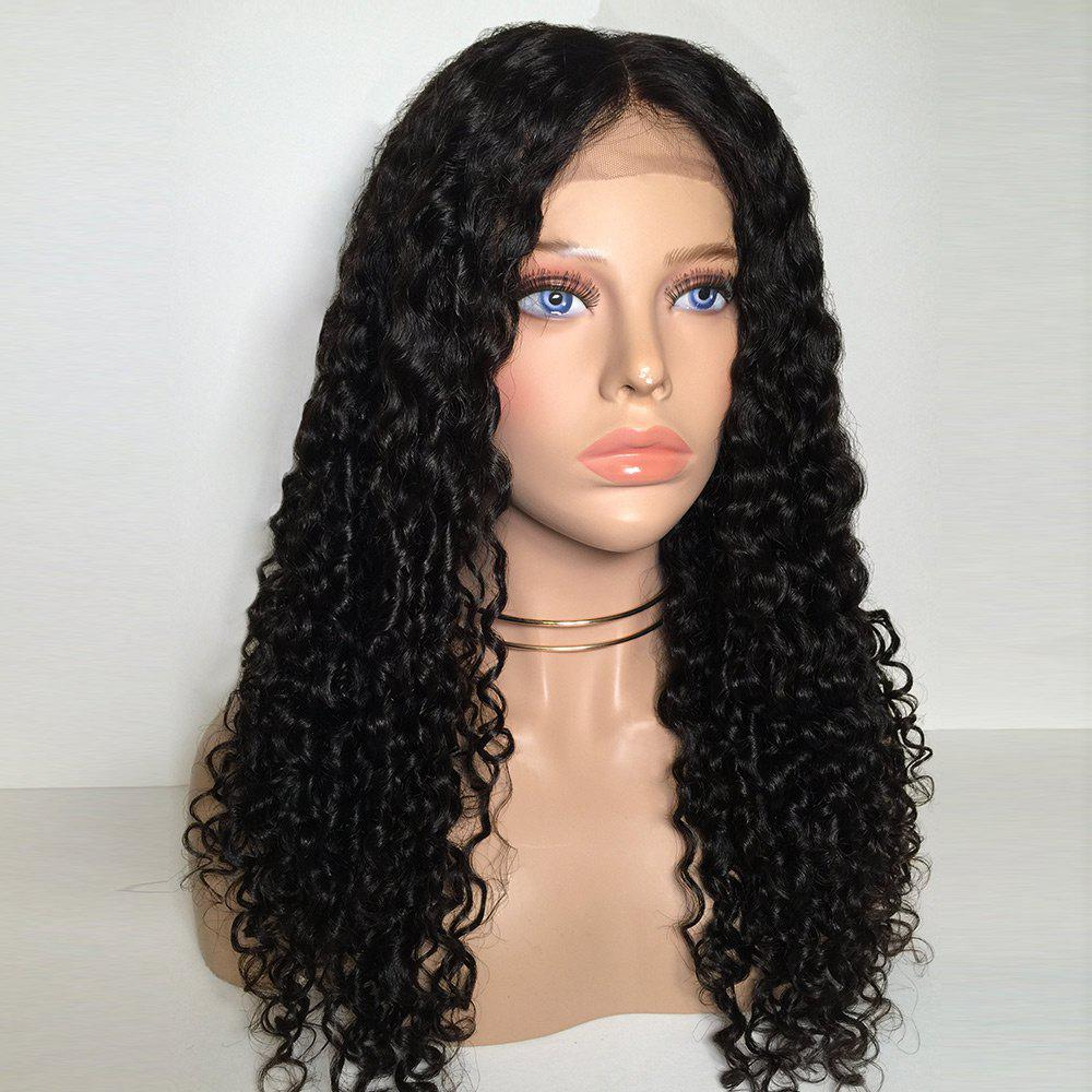 Long Middle Part Deep Wave Curly Synthetic Lace Front Wig glueless deep curly synthetic lace front