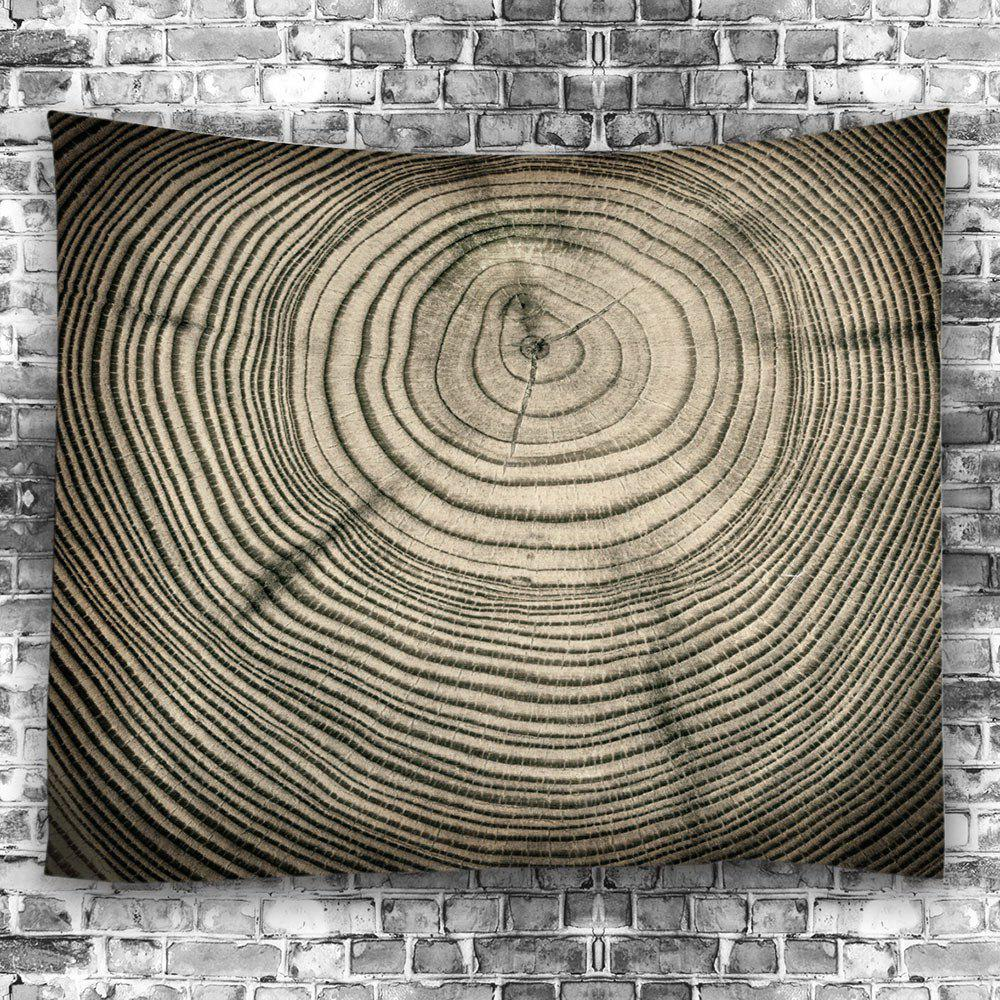 Wall Art Tree Growth Ring Couvre-lit Tapisserie - Bois W59 INCH * L59 INCH