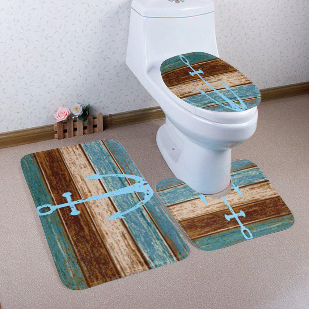 3Pcs/Set Bathroom Decor Vintage Anchor Mats - COLORMIX