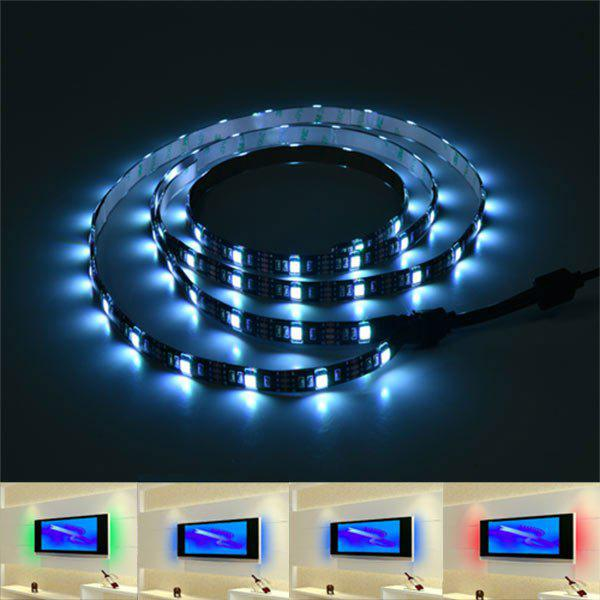 Contrôle de l'application Smart Bluetooth USB LED TV Light Strip - coloré