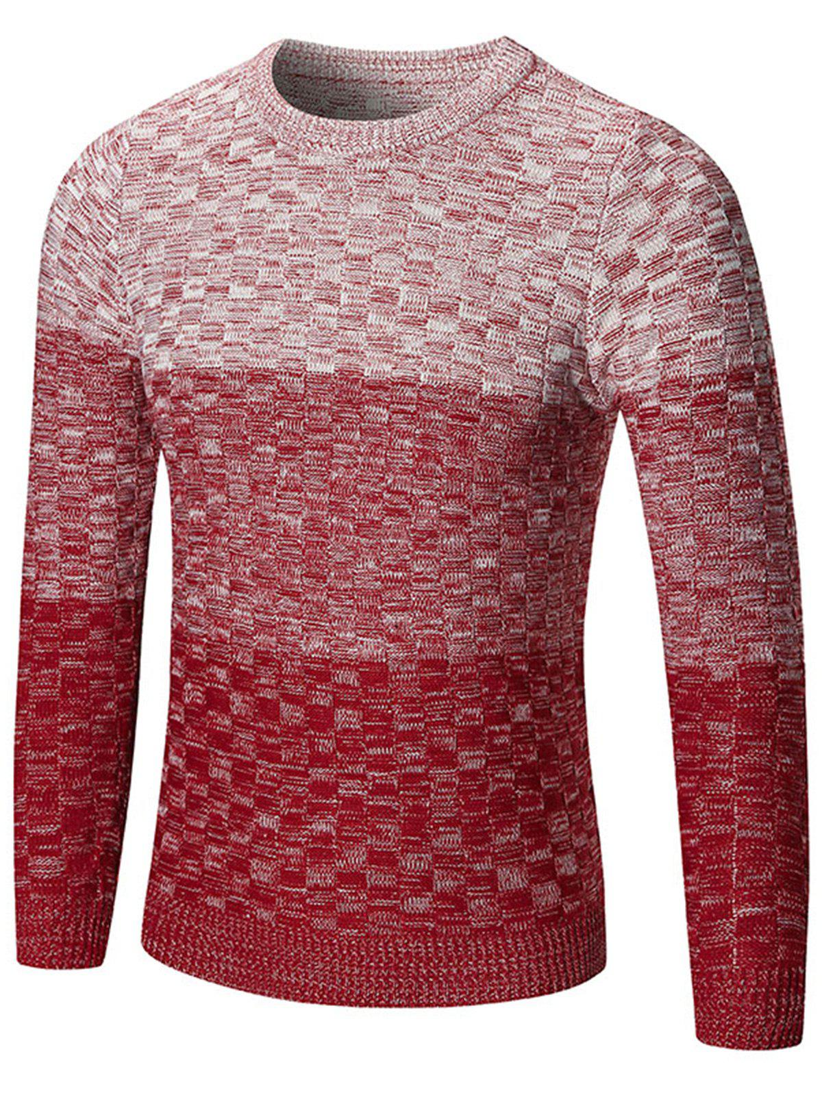 Chemisier à encolure Ombre Sweater - Rouge L