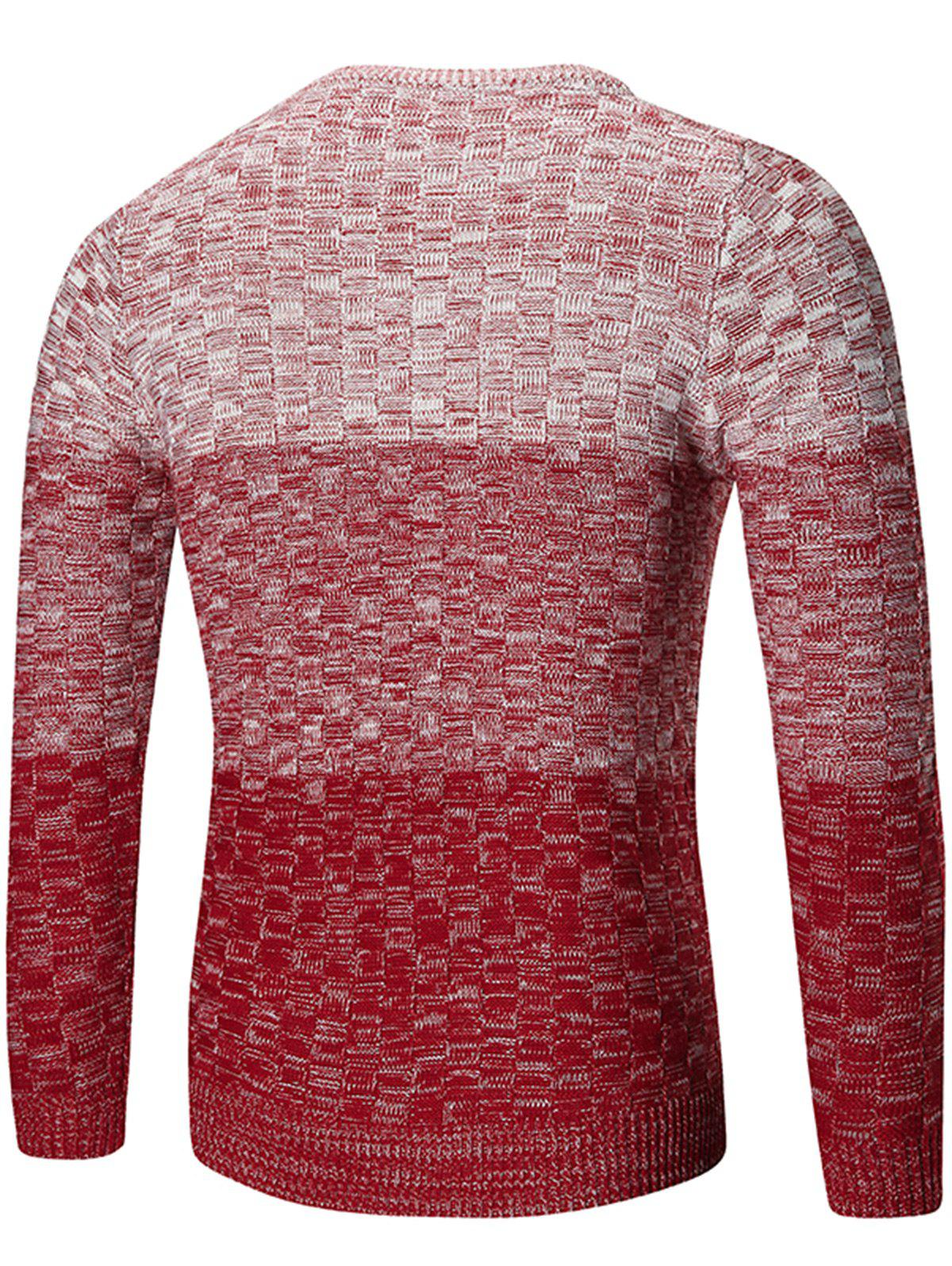 Chemisier à encolure Ombre Sweater - Rouge M
