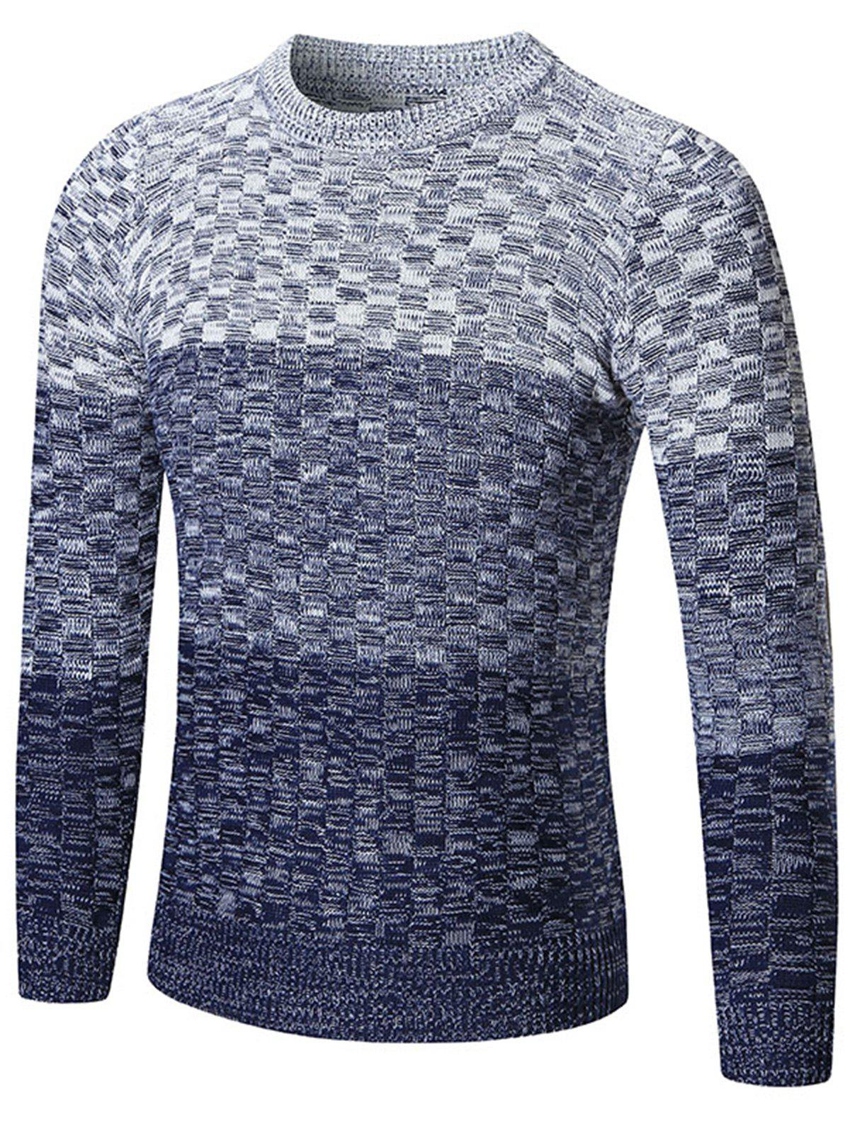 Chemisier à encolure Ombre Sweater - Bleu XL