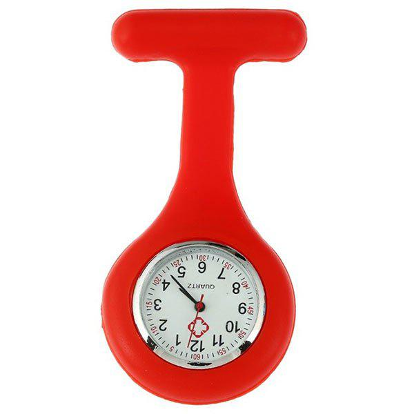 Silicone Nurses Fob Watch - RED