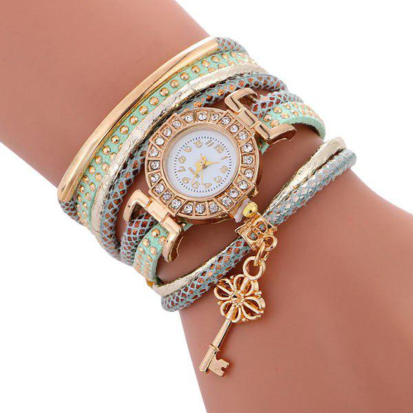 Studded Key Wrap Bracelet Watch - SPA
