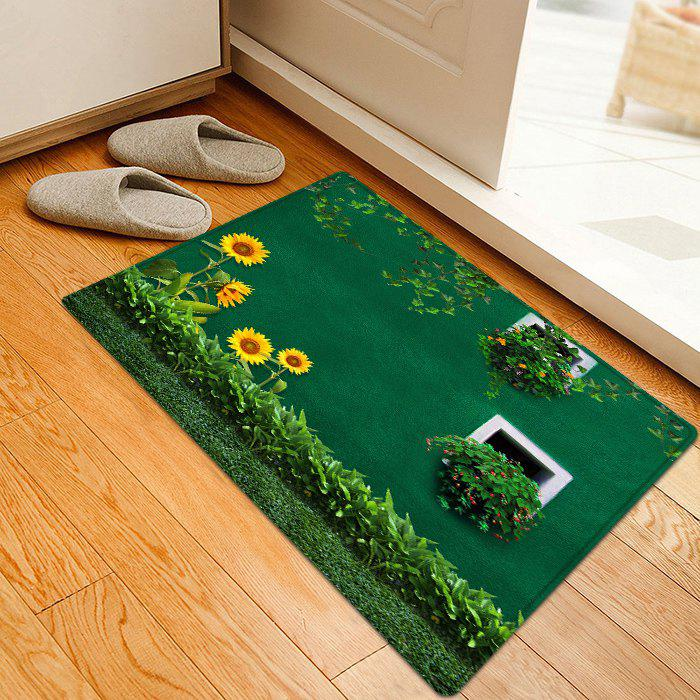 Sunflower Grass Pattern Indoor Outdoor Area Rug, Green