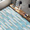 Vintage Faux Wood Grain Floor Sticker - TURQUOISE