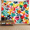 Tropical Leaves Waterproof Wall Tapestry - COLORFUL W59 INCH * L51 INCH