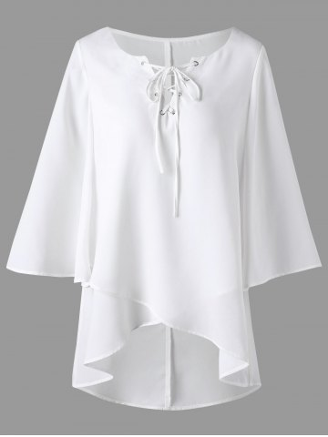 12e84f4352a3a7 2019 White High Low Blouse Best Online For Sale | DressLily