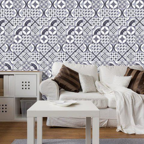 Bohemian Geometric Vinyl Decorative Wall Sticker - Gris