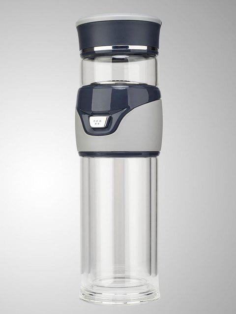 Travel Glass Kung Fu Tea Bottle with Filter - GRAY