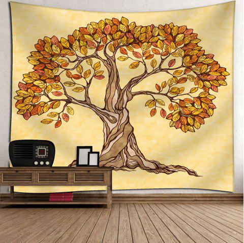 Artistic Tree Wall Hanging Beach Throw Tapestry - DEEP YELLOW W59 INCH * L51 INCH
