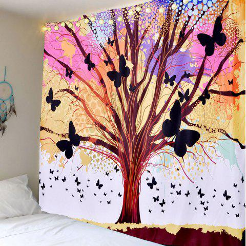 Butterfly Life of Tree Wall Hanging Tapestry - COLORFUL W59 INCH * L51 INCH