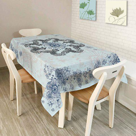 Bohemian Mandala Printed Polyester Table Cloth - LIGHT BLUE W60 INCH * L84 INCH