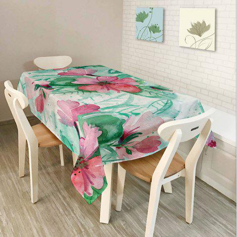 Waterproof Oil Painting Floral Print Table Cloth - COLORFUL W60 INCH * L84 INCH