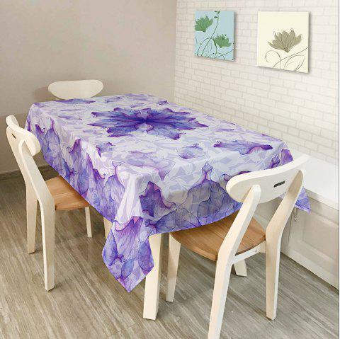 Dust Prevention Fabric Floral Table Cloth - PURPLE W54 INCH * L54 INCH