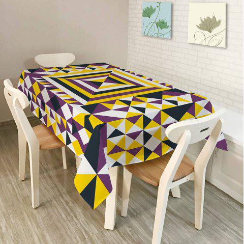 Geometry Print Dustproof Table Cloth Dining Decor - COLORMIX W54 INCH * L54 INCH