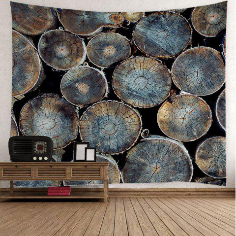 Natural Wood Fabric Wall Decor Hanging Tapestry - COLORMIX W59 INCH * L59 INCH