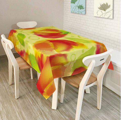 Washable Fabric Kitchen Decoration Table Cover - COLORMIX W54 INCH * L72 INCH