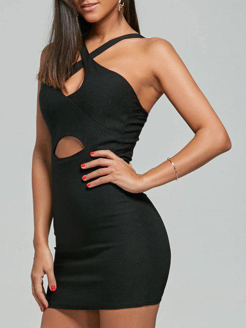 Cut Out Club Night Out Bodycon Dress - BLACK ONE SIZE